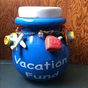 "Accessories - Ceramic ""Vacation fund"" piggy bank"